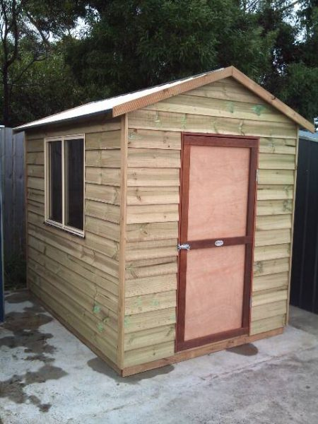 Gable Timber Shed with sliding window