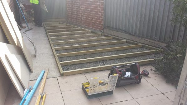 Site Preparation Trapezoid Shed Wooden Floor