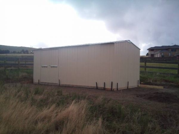 Large Gable shed with double doors