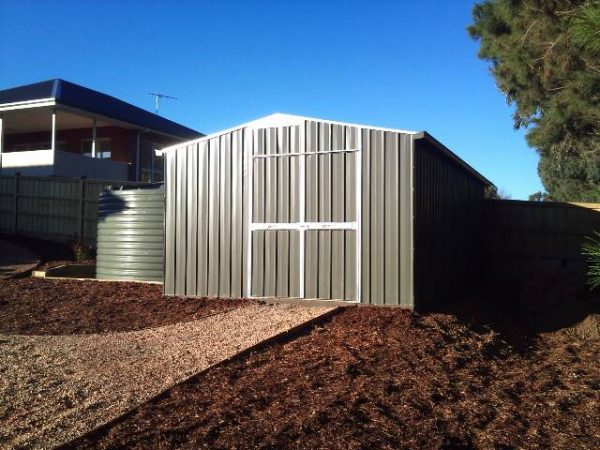 Large Gable Roof Shed with double doors