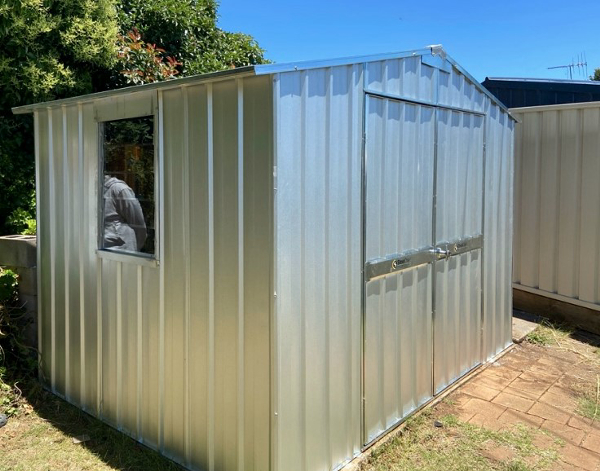 Zinc Shed With Gable Roof