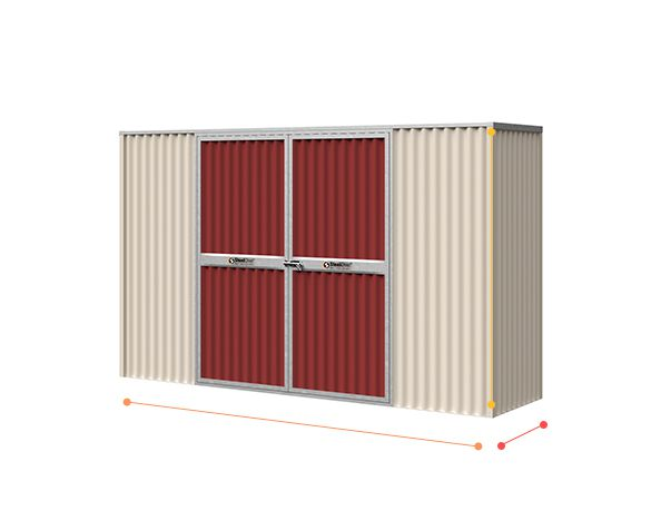 Flat Roof Corrugated Shed Sizeopt Steelchief Melbourne