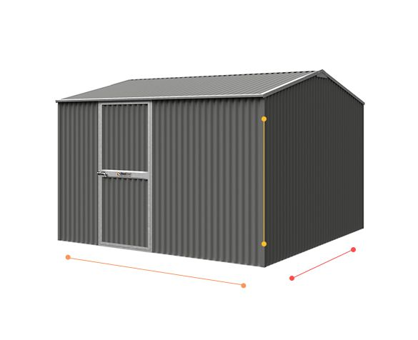 Gable Roof Corrugated Shed
