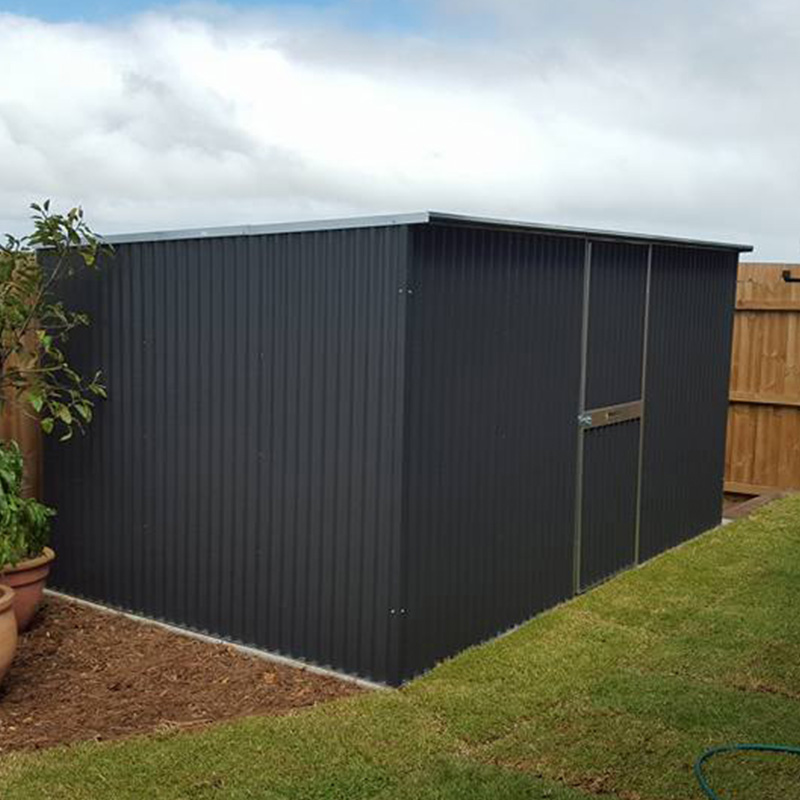 Skillion Roof Steel Frame Corrugated Shed - SteelChief