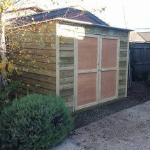 Skillion Roof Timber Shed