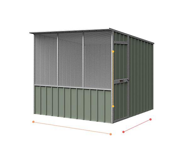 Skillion Roof Chook Shed - size options