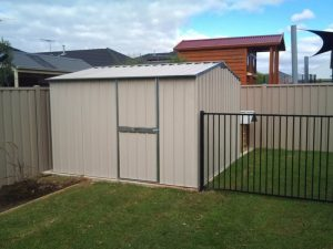 garden shed on concrete