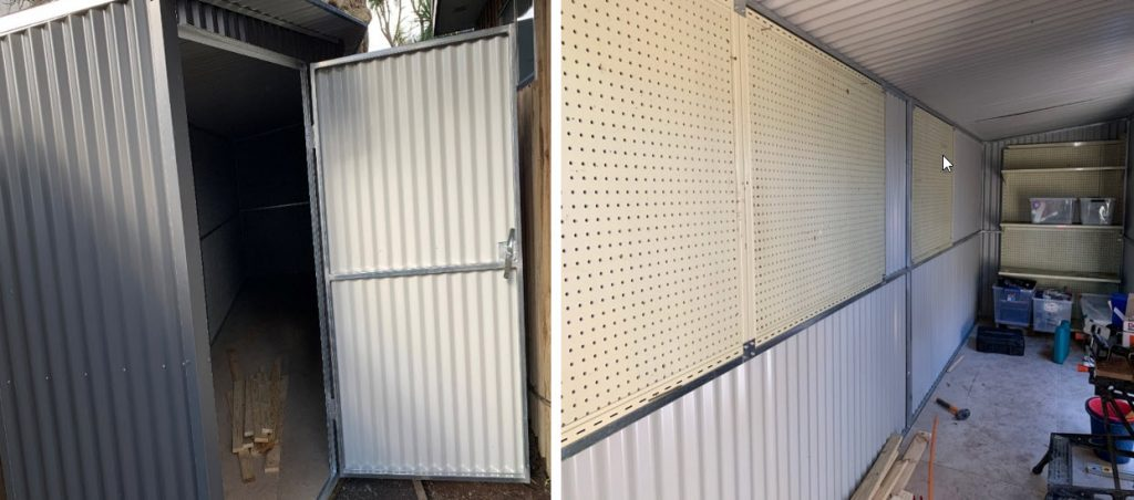 Custom shed for limited space